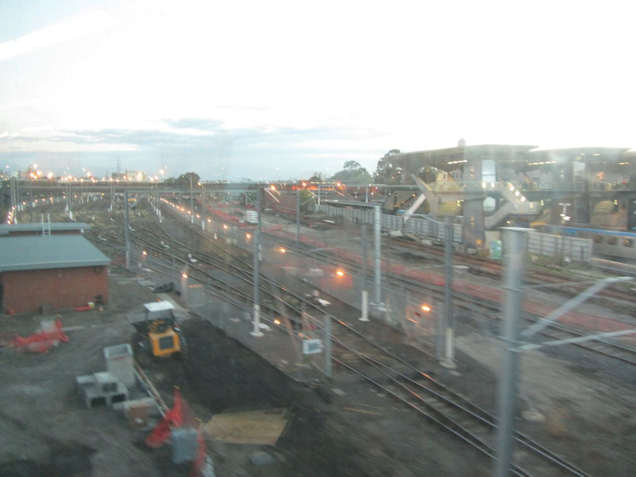 Regional Rail Link works beside North Melbourne station.