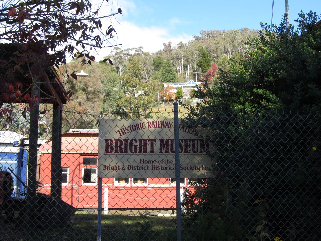Bright Museum at the deprecated railway station features deprecated rolling stock.