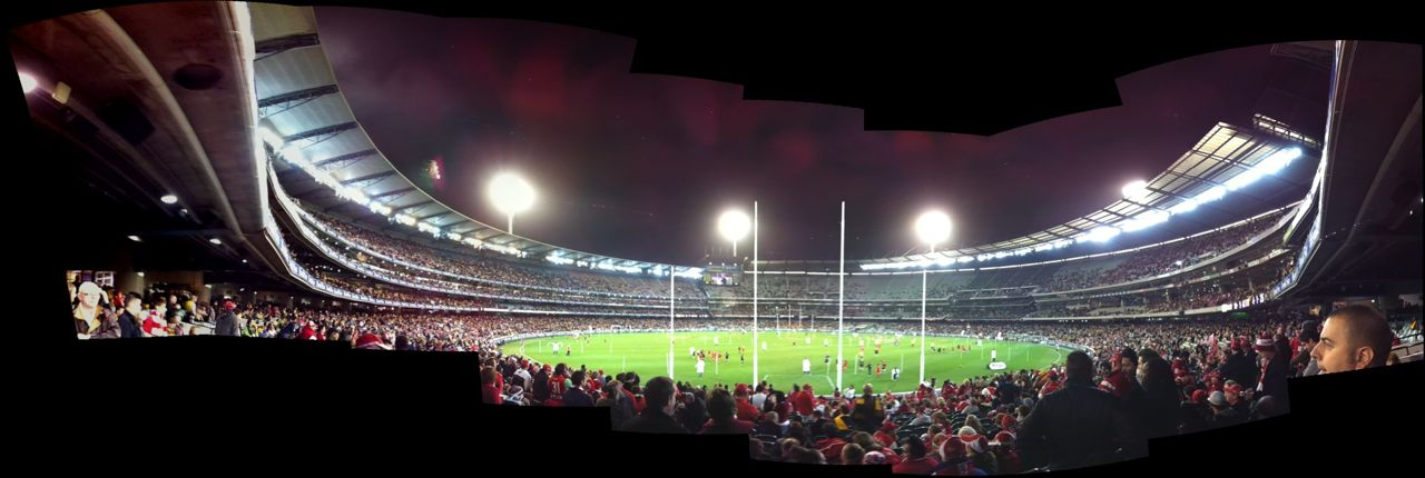 360° panorama from Q2 before Hawks v Swans