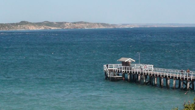 View back across The Rip from Point Lonsdale.